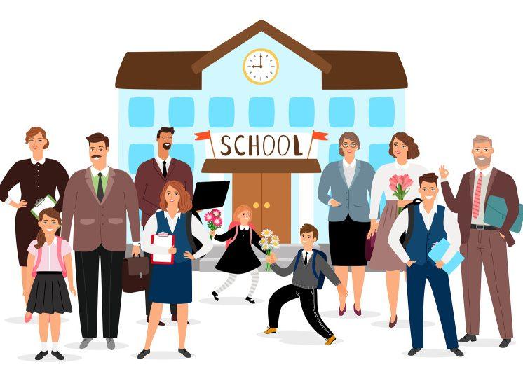 škola, žáci a učitelé